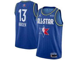 Mens 2020 All Star Nba Houston Rockets #13 James Harden Blue Swingman Jordan Brand Jersey