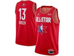 Mens 2020 All Star Nba Houston Rockets #13 James Harden Red Swingman Jordan Brand Jersey