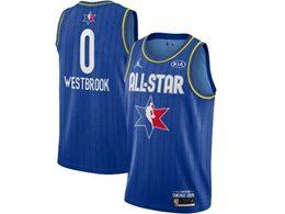 Mens 2020 All Star Nba Houston Rockets #0 Russell Westbrook Blue Swingman Jordan Brand Jersey