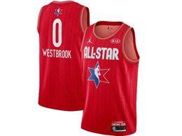 Mens 2020 All Star Nba Houston Rockets #0 Russell Westbrook Red Swingman Jordan Brand Jersey