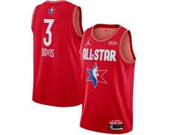 Mens 2020 All Star Nba Los Angeles Lakers #3 Anthony Davis Red Swingman Jordan Brand Jersey