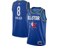 Mens 2020 All Star New Nba Boston Celtics #8 Kemba Walker Blue Swingman Jordan Brand Jersey