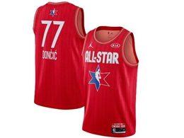 Mens 2020 All Star Nba Dallas Mavericks #77 Luka Doncic Red Swingman Jordan Brand Jersey