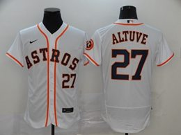 Mens Mlb Houston Astros #27 Jose Altuve White Flex Base Nike Jersey