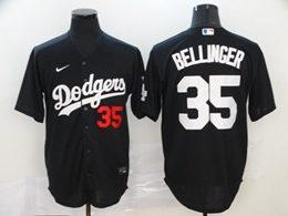 Mens Mlb Los Angeles Dodgers #35 Cody Bellinger Black Cool Base Nike Jersey