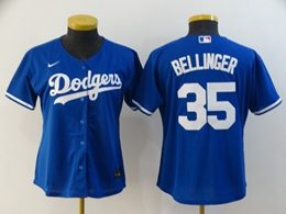 Women Youth Mlb Los Angeles Dodgers #35 Cody Bellinger Blue Cool Base Nike Jersey