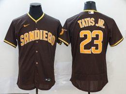 Mens Mlb San Diego Padres #23 Fernando Tatis Jr. Brown Flex Base Nike Jersey