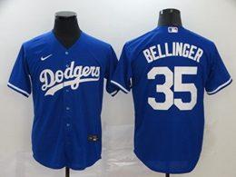 Mens Mlb Los Angeles Dodgers #35 Cody Bellinger Blue Cool Base Nike Jersey