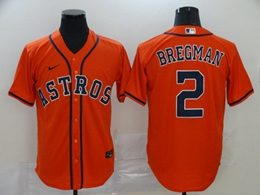 Mens Mlb Houston Astros #2 Alex Bregman Orange Cool Base Nike Jersey