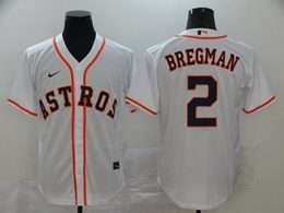 Mens Mlb Houston Astros #2 Alex Bregman White Cool Base Nike Jersey