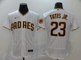 Mens Mlb San Diego Padres #23 Fernando Tatis Jr. White Stripe Flex Base Nike Jersey