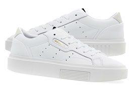 Women Adidas Originals Sleek Super Footwear Trainers White Shoes