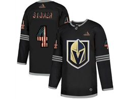 Mens Nhl Vegas Golden Knights #4 Clayton Stoner Black 2020 National Flag Adidas Jersey