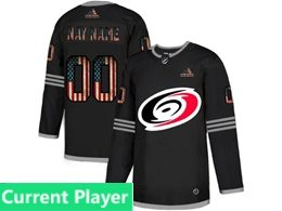 Mens Nhl Carolina Hurricanes Black Current Player 2020 National Flag Adidas Jersey