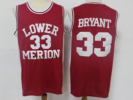 Mens Ncaa Nba Lower Merion #33 Bryant Red Jersey