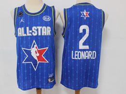 Mens 2020 All Star Nba Los Angeles Clippers #2 Kawhi Leonard Blue Swingman Jordan Brand Jersey
