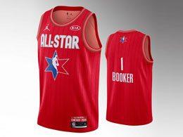 Mens 2020 All Star Nba Mens Phoenix Suns #1 Devin Booker Red Swingman Jordan Brand Jersey