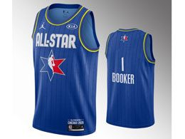 Mens 2020 All Star Nba Mens Phoenix Suns #1 Devin Booker Blue Swingman Jordan Brand Jersey
