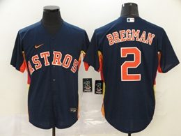 Mens Mlb Houston Astros #2 Alex Bregman Blue Cool Base Nike Jersey