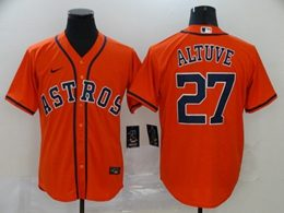 Mens Mlb Houston Astros #27 Jose Altuve Orange Cool Base Nike Jersey