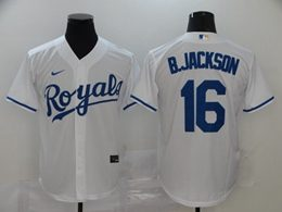 Mens Mlb Kansas City Royals #16 B.jackson White Cool Base Nike Jersey