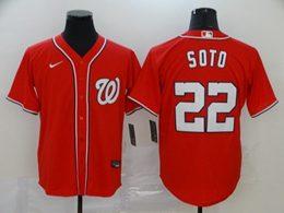 Mens Mlb Washington Nationals #22 Juan Soto Red Cool Base Nike Jersey
