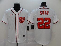 Mens Mlb Washington Nationals #22 Juan Soto White Cool Base Nike Jersey