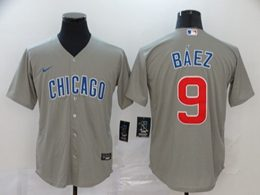 Mens Nike Chicago Cubs Custom Made Gray Cool Base Jersey
