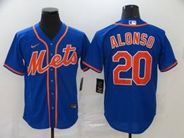 Mens Mlb New York Mets #20 Pete Alonso Blue Cool Base Nike Jersey