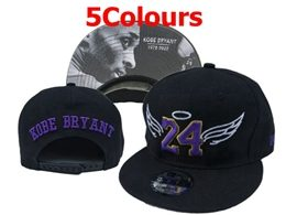 Mens Nba Los Angeles Lakers #24 Kobe Bryant Commemorative Snapback Adjustable Hats 5 Colors