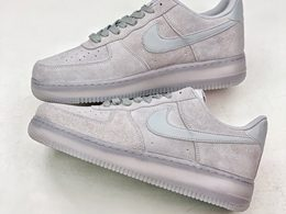 Mens And Women Nike Air Force 1 Low Grey Running Shoes