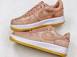 "Mens And Women Nike Air Force 1 Low ""rose Gold"" Running Shoes"