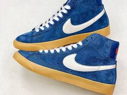 Mens And Women Nike Blazer Mid Blue Running Shoes