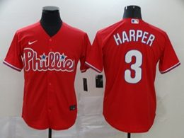 Mens Mlb Philadephia Phillies #3 Bryce Harper Red Cool Base Nike Jersey