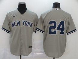Mens Mlb New York Yankees #24 Gary Sanchez Gray Cool Base Nike Jersey No Name