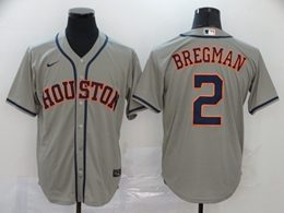 Mens Mlb Houston Astros #2 Alex Bregman Gray Cool Base Nike Jersey