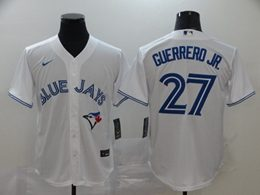 Mens Mlb Toronto Blue Jays #27 Guerrero Jr. White Cool Base Nike Jersey