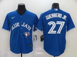 Mens Mlb Toronto Blue Jays #27 Guerrero Jr. Blue Cool Base Nike Jersey