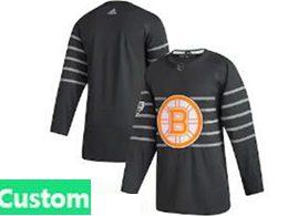 Mens Nhl Boston Bruins Black Custom Made 2020 All Star Adidas Jersey
