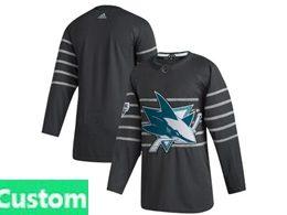 Mens Nhl San Jose Sharks Custom Made Black 2020 All Star Adidas Jersey