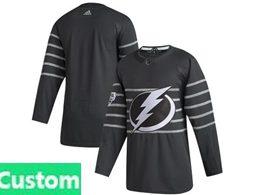Mens Nhl Tampa Bay Lightning Black Custom Made 2020 All Star Adidas Jersey