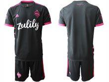 Mens 20-21 Soccer Seattle Sounders Club ( Custom Made ) Black Away Short Sleeve Jersey