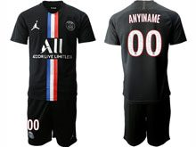 Mens 19-20 Soccer Paris Saint Germain Current Player Black Third Away Short Sleeve Suit Jersey