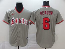 Mens Mlb Los Angeles Angels #6 Anthony Rendon Gray Cool Base Nike Jersey