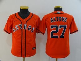 Women Youth Mlb Houston Astros #27 Jose Altuve Orange Cool Base Nike Jersey