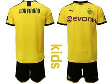 Youth 19-20 Soccer Borussia Dortmund Club ( Custom Made ) Yellow Home Short Sleeve Suit Jersey