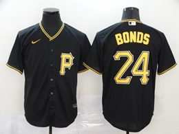 Mens Mlb Pittsburgh Pirates #24 Barry Bonds Black Cool Base Nike Jersey