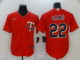 Mens Mlb Minnesota Twins #22 Miguel Sano Red Cool Base Nike Jersey