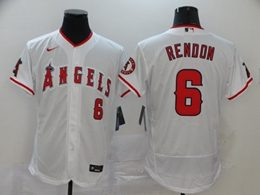 Mens Mlb Los Angeles Angels #6 Anthony Rendon White Flex Base Nike Jersey