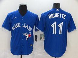 Mens Mlb Toronto Blue Jays #11 Kevin Pillar Blue Cool Base Nike Jersey